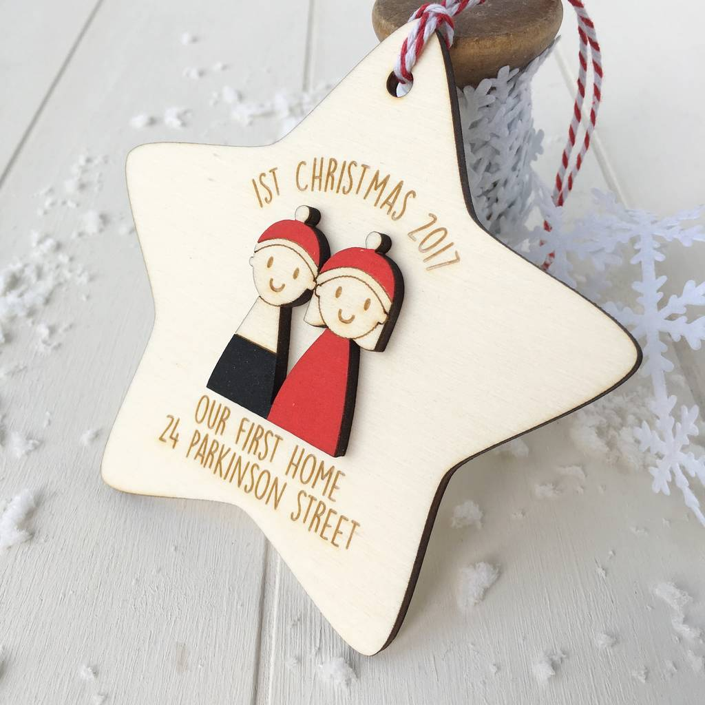 Personalised 1st Christmas In Our 1st Home Decoration