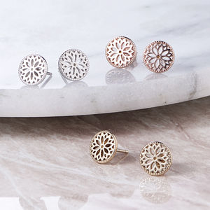 Purity Mandala Stud Earrings - earrings