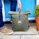 Personalised Waxed Canvas Family Adventure Backpack