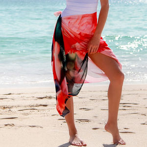 Womens Gift Silk Scarf And Sarong, Flamingo - new season scarves