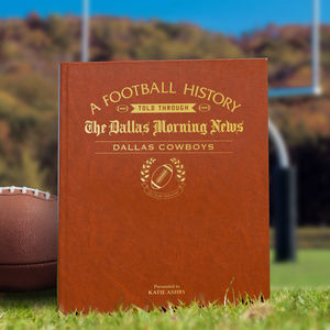 Personalised American Football Team History Book