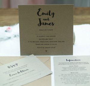 Kraft Style Wedding Invitations