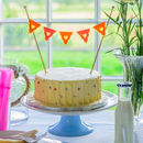 Birthday Cake Bunting Real Fabric Bunting