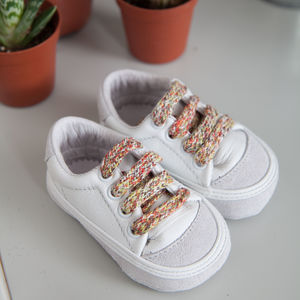 Ali Soft Sole Leather Low Top Trainers For Babies - clothing