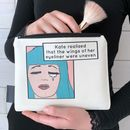 'The Wings Of Her Eyeliner' Personalised Make Up Bag