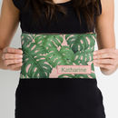 Tropical Leaf Personalised Make Up Bag