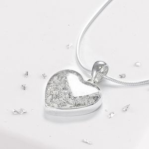 Memorial Resin Inlaid Heart Pendant
