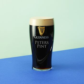 Personalised Message Guinness Pint Glass