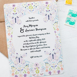 Butterfly And Bee Wedding Stationery - table plans