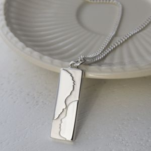 Personalised Silhouette Silver Necklace