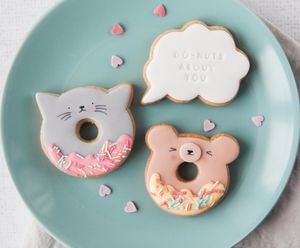 'Do Nuts About You' Doughnut Biscuits - gifts for her