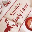 Personalised Long Christmas Stag Table Runner