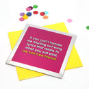 Funny Birthday Card 'Song Lyrics' Mirror Card