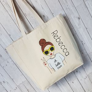 'Miss Super Sassy' Customised Fashion Tote Bag