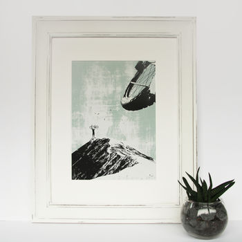 On Top Of The World Mountain Bike Screen Print