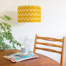 Retro Barkcloth Drum Lampshade
