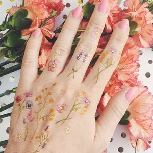 Little Garden Flower Temporary Tattoo
