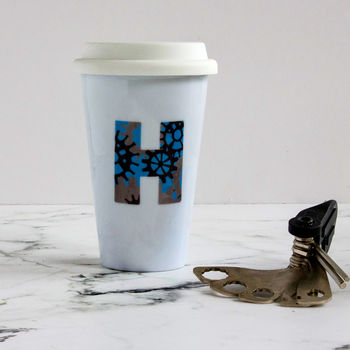 Bike Gears Initial Travel Mug