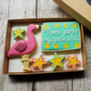 Personalised Pink Flamingo Cookie Gift Box