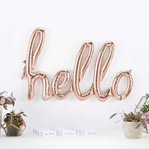 Hello Rose Gold Party Balloon