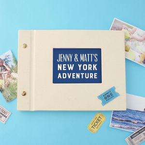Personalised Typographic Mini Photo Album