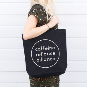 'Caffeine Reliance Alliance' Canvas Tote Bag