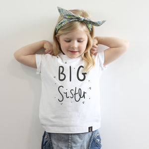 The Big Sister Tee - gifts for little siblings