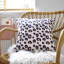 Animal Print Cotton Linen Cushion Blue And Pink