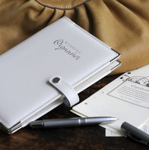 Leather Wedding Organiser - albums & guest books