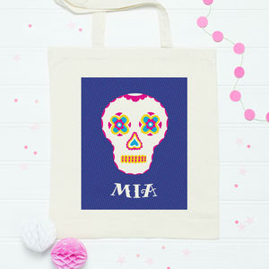 Personalised Day Of The Dead Skull Bag