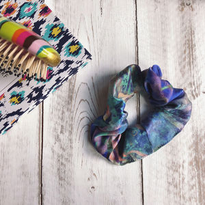 Colourful Silk Hair Tie Scrunchie - head pieces