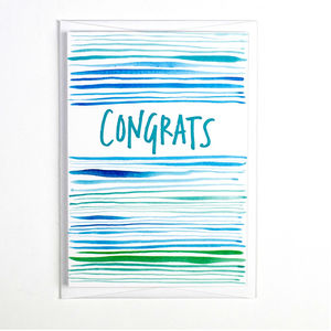 'Congrats' Pattern Card