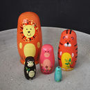 Jungle Animals Nesting Dolls
