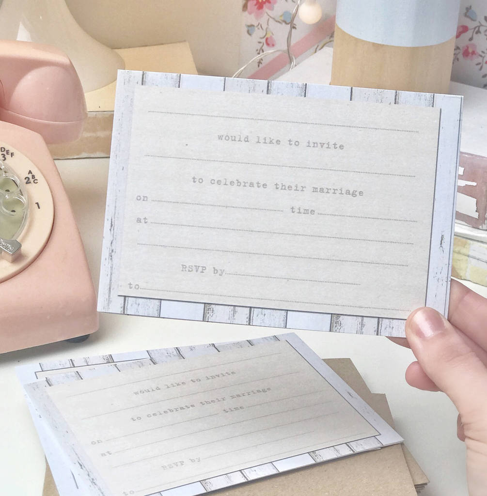20 Pack Of Pastel Party Wedding Invitations By Lucy Ledger
