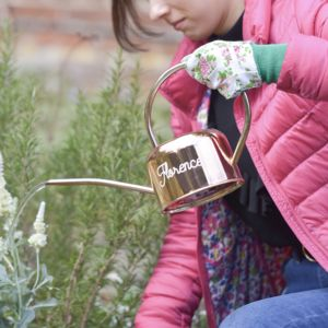 Personalised Copper Watering Can - garden tools