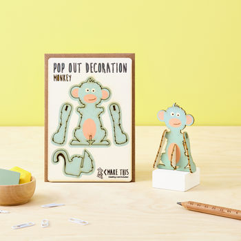 Pop Out Monkey Greeting Card