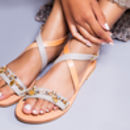 Anemone Handmade Strap Leather Sandals