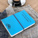 Personalised Leather Cycling/Travel Journal