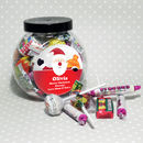 Personalised Christmas Sweetie Jar