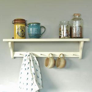 Painted Vintage Wall Rack - children's room