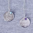 Sterling Silver 40th Birthday Personality Necklace