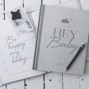 Personalised Baby Journal And Record New White Edition
