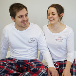 Personalised Together Since Couples Pyjamas - women's fashion