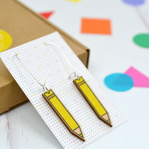 Pencil Earrings - earrings