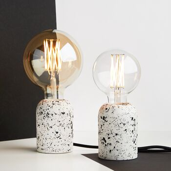 White Terrazzo Table Lamp