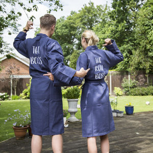 Personalised Waffle Dressing Gown - lingerie & nightwear