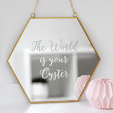 Personalised Hexagon Mirror - home