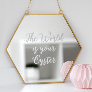 Personalised Hexagon Mirror - mirrors