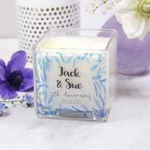 Scented Anniversary Luxury Square Candle - for her