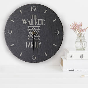 Personalised Slate Clock Family